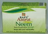 BAPS Amrut Neem Skin Protection Soap (75 grams)