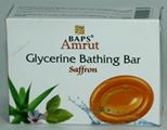 BAPS Amrut Glycerine Bathing Bar (Saffron) (75 grams)