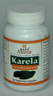BAPS Amrut Karela Capsules (60 Capsules), BAPS Swaminarayan Herbal Care, BAPS Swaminarayan Herbal Care, DIABETES, Madanapalas