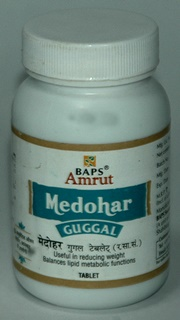 BAPS Amrut Medohar Guggal Tablets (180 Tablets), BAPS Swaminarayan Herbal Care, BAPS Swaminarayan Herbal Care, OVERWEIGHT, Madanapalas