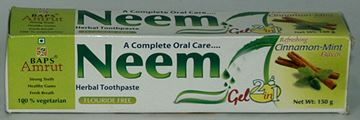 BAPS Amrut Neem Gel Herbal Toothpaste (150 grams)