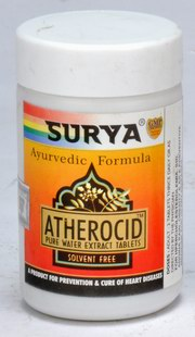 Atherocid Tablets (A Product For Prevention & Cure Of Heart Diseases) (50 Tablets), Surya Pharmaceuticals, Surya Pharmaceuticals, HEART CONDITIONS, Madanapalas