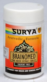 Brainomed Tablets (A Herbal Remedy For Brain & General Health) (50 Tablets), Surya Pharmaceuticals, Surya Pharmaceuticals, ANXIETY, Madanapalas