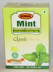 Gokul Herbal Infusion Mint (20 Tea Bags)