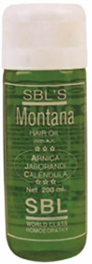 Montana Hair Oil (200ml), SBL Homeopathy, SBL Homeopathy, HAIR OILS, Madanapalas