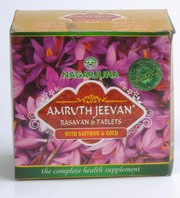 Amruth Jeevan Rasayan & Tablets with Saffron & Gold (900 gms Avaleha and 90 Tablets)