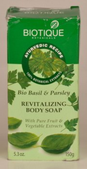 Bio Basil & Parsley Revitalizing Body Soap (150 gms), Biotique, Biotique, AYURVEDIC SOAP, Madanapalas