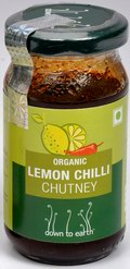 Organic Lemon Chilli Chutney