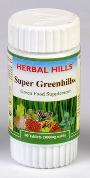 Super Greenhills (Green Food Supplement) 60 Tablets, Herbal Hills, Herbal Hills, ULCERS, Madanapalas