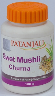 Swet Mushli Churna (100 grams), Patanjali Ayurved, Patanjali Ayurved, LOW ENERGY, Madanapalas