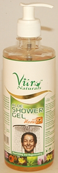 Vitro Naturals Aloe Shower Gel with Honey (500 ml)